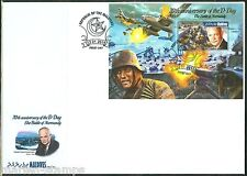 MALDIVES 2015 70th ANN OF D DAY DWIGHT EISENHOWER S/S FIRST DAY COVER