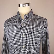 Abercrombie & Fitch A&F Muscle Slim Fit Gingham Button Down Shirt Mens Large NWT