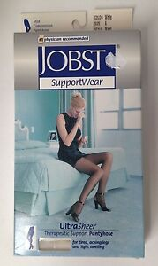 Jobst Support Pantyhose Mild Compression 8-15mmHg Ultra Sheer White Size A