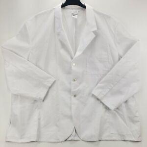 NEW Meta Fundamentals Big And Tall 5X 5XL XXXXXL Pockets 3/4 Sleeve White