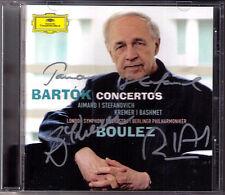 Aimard, Stefanovich, Kremer firmato BARTOK PIANO VIOLIN Viola Boulez Bashmet CD