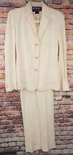 Womens Ralph Lauren Purple Label Collection Linen Rayon Blend Suit Set Size 2