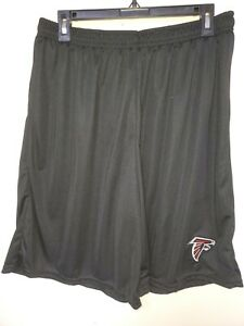 0724 Mens NFL ATLANTA FALCONS Polyester Jersey SHORTS Embroidered BLACK New