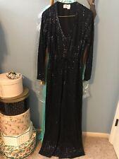 Vintage 1970's Sequined Black Jumpsuit