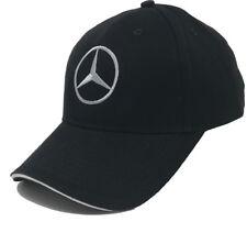 Mercedes Logo Embroidered 6 Panel, Brushed Cotton Baseball Cap