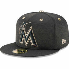 NEW MIAMI MARLINS New Era 59FIFTY 2017 MLB Blk All Star Game Size 7 5/8 Hat Cap