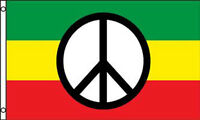 RASTA PEACE SIGN FLAG #471 jamaican flags tapestry NEW banners peaceful signs