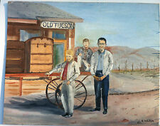 OLD TUCSON Signed R. Wilson (Richard A.) 1965 ORIGINAL Oil Painting ART 16x20