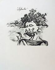 Salvador Dali Gravure Sur Vélin Signée Surréaliste