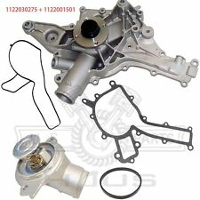 For Mercedes S430 S500 C320 E320 Water Pump (W/O Oil Cooler Fitting) +Thermostat