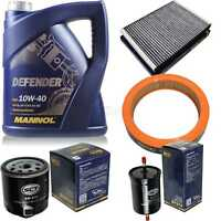 Ölwechsel Set MANNOL 5L Defender 10W-40 Motoröl + SCT Filter SET KIT 10752970