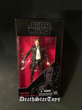 "Star Wars The Black Series 6"" Han Solo 18 Force Awakens Millennium Falcon Leia"