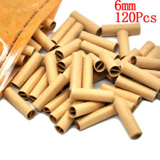 120x/Bag natural cigarette filter smoking rolling paper tips tobacco papers 6mm-
