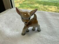 Vintage Ceramic Kitsch Deer Fawn Big Ears Figurine 3 Inches Tall Japan