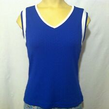Wimbledon England Lawn Tennis & Croquet Club Sweater Vest Women's S Small Blue
