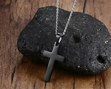Stainless Steel Cross Pendant Necklace Men/Women Faith Prayer Christian Jewelry