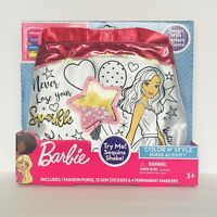 Barbie Color N' Style Sequin Glitter Pink Purse Activity With Markers & Gems AB2