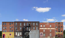 #803 N scale  COMMERCIAL BACKS set 1- four background buildings *FREE SHIPPING*