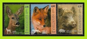 Croatia 2015 Croatian Fauna - Woodland Animals - Complet Series 3 Stamps - MNH