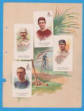 1887 A17 Allen & Ginter World's Champions ser. 2 album page Baseball w/ GETZIN,