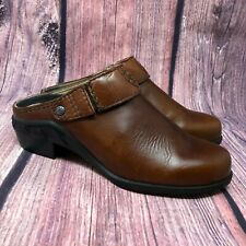 ARIAT 94070 Women's Brown Leather Slingback Mules Clogs Size 6 B
