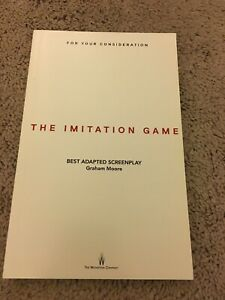 The Imitation Game Best Original Screenplay Oscar FYC Cumberbatch Knightley