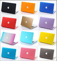 """Rubberized Hard Case Frosted Matt Cover for MacBook Air White Pro 11"""" 13 15""""inch"""