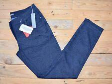 Women's Slim Fit Skinny Blue Black Leopard Print 7/8th Jeans Trousers Size 8