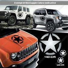 KIT 3 STICKERS STAR ARMY BODYWORK GRAPHIC JEEP RENEGADE OFF ROAD SILVER