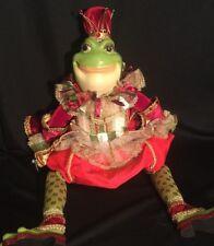 """Katherine's Collection Wayne Kleski Retired 28"""" King Frog Christmas Doll RARE"""