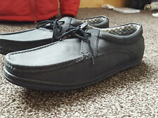 FIRETRAP  REAL LEATHER BLACK Mens CASUAL Shoes  UK 11 NEW FREE UK PP