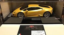 1/18 MR Collection Lamborghini Huracan Coupe LP580-2 Pearl Yellow Display Case