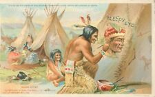Sleepy Eye Flour, Indian Advertising Postcard, Painting The Chief