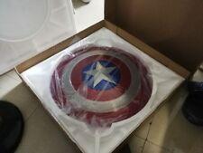 Captain America 1:1 Shield Full Aluminum Metal Shield Cosplay Unpainted/Painted