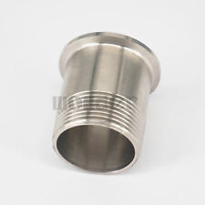 """1-1/4"""" BSPT Male x 1.5"""" Tri Clamp Sanitary Fitting Connector Homebrew SS304"""