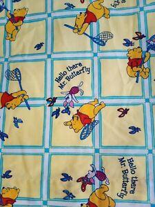 "Vintage Winnie the Pooh Disney Curtains - Yellow W 44"" x  D 54"""