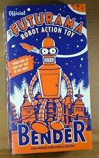 Futurama Bender Robot Wind Up Action Toy 2000 Original Flap Box
