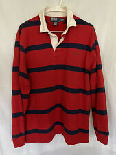 New listing Vtg 90's POLO RALPH LAUREN Men's THICK STRIPED L/S RUGBY POLO SHIRT sz XL