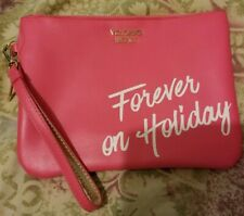 Victorias Secret FOREVER ON HOLIDAY Cosmetic Makeup Bag Clutch Wristlet NWOT