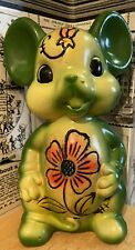 New listing Vintage Enesco Ceramic Mouse Bank with Rubber Stopper - 1970's?