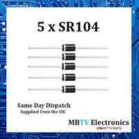 5 x SR104 Small Signal Schottky Diode Single 40V 1A 550mV 30A 125 °C - Pack of 5