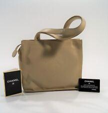 Vintage 1997-99 CHANEL Cream Lambskin Camellia Logo Handbag w/Card
