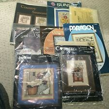 Needlepoint and Cross stitch kits Lot Of 8 Open, Unstarted
