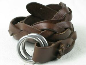 New Polo Ralph Lauren Men's Braided Leather O-Ring Belt