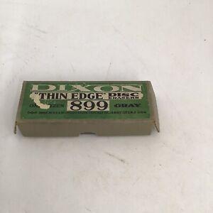 DIXON THIN EDGE box & 10 erasers #899  VINTAGE GRAY DISCS Typewriter