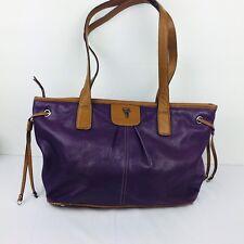 Tiganello TT Double Purple Leather Purse Handbag