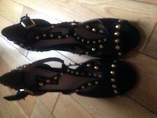 Miss Selfridge black heel stud shoes size 3