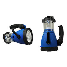 Outdoor Emergency Hand Crank LED lantern Light Lamp Spotlight w/ Car Charger