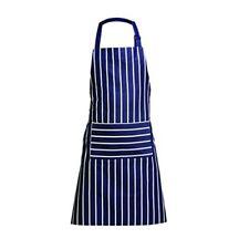 Premier Housewares Adjustable Navy Butcher Stripe 100% Cotton Apron - 100