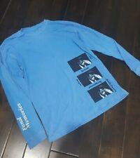 cotton long sleeve t shirt neon blue dye jazz musician actor memories print